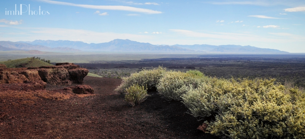 View north over the North Crater and Serrate Flows